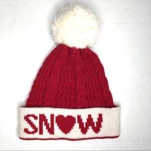 SNOW Winter Pom Beanie Hat